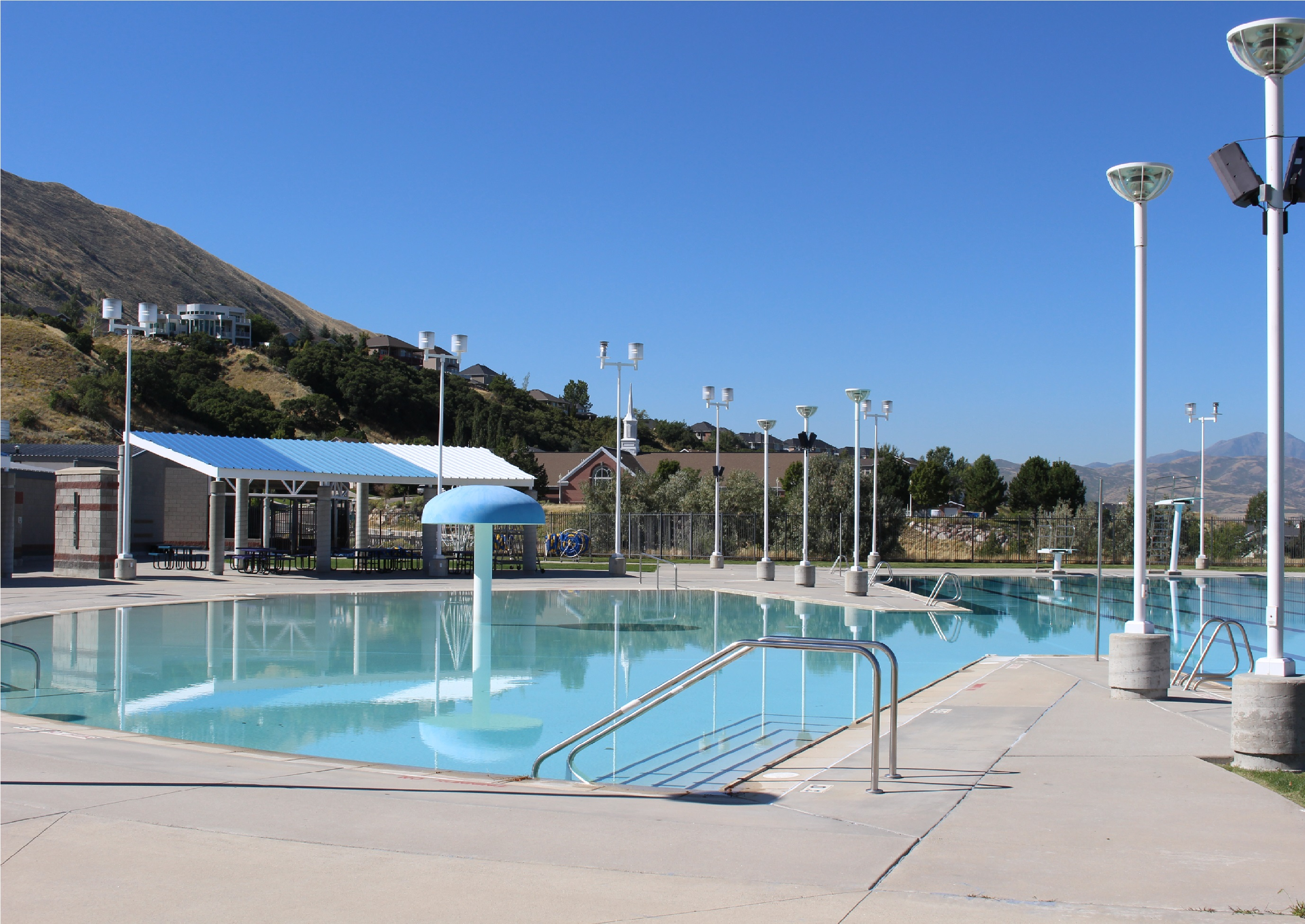 The Draper Outdoor Pool A Salt Lake County Facility It Is Beautiful On South Mountain With Great View Of Entire Valley