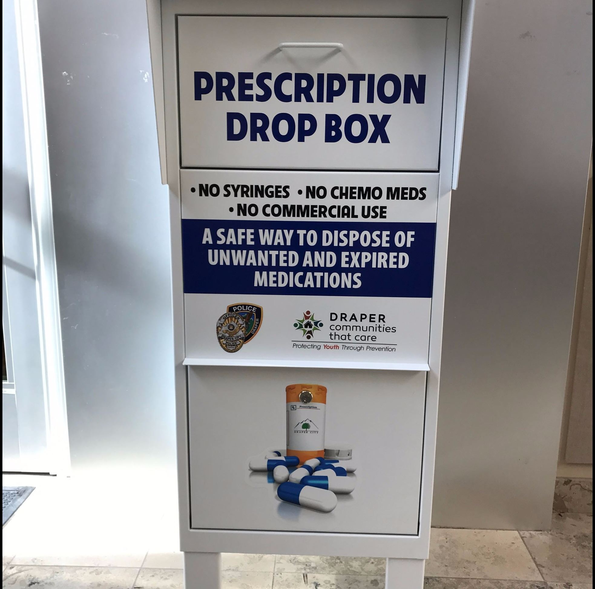 Drug take back depository receptacle