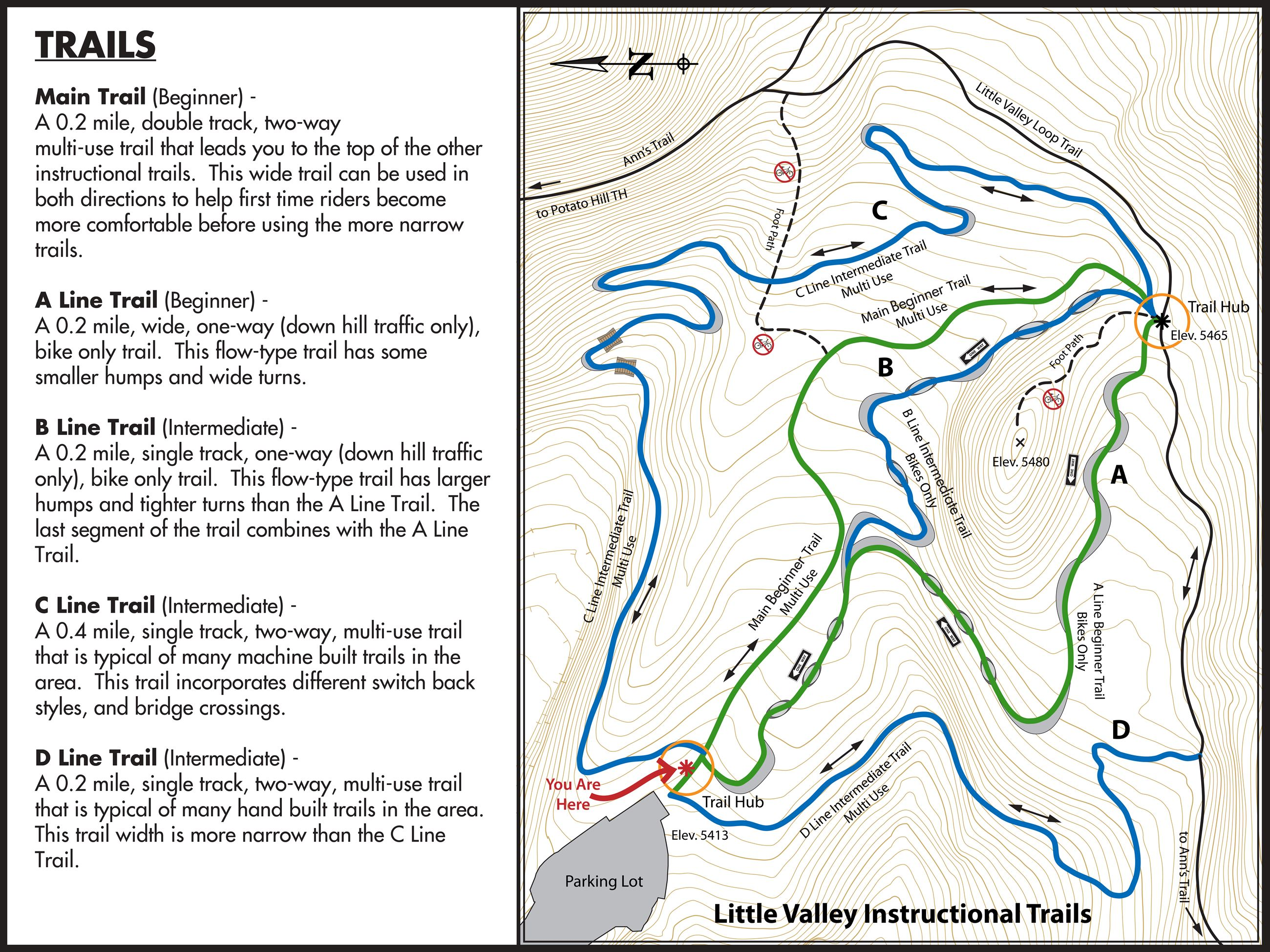 Little Valley Trails - MAP 23June2015