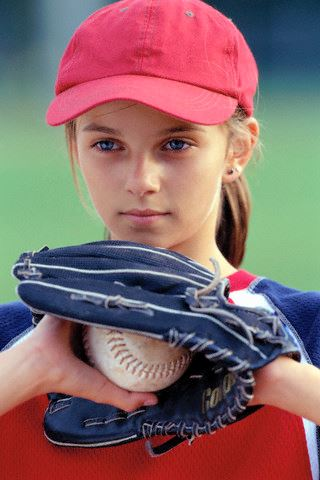 Girl Ready to Pitch